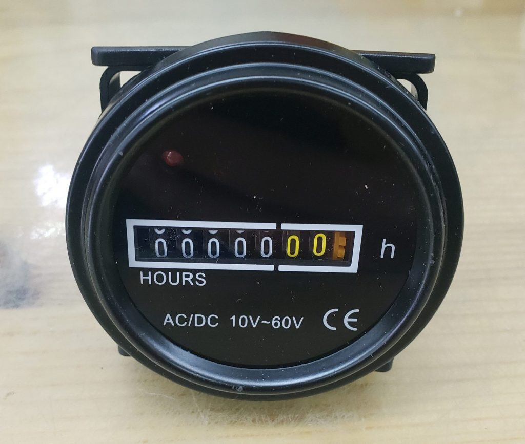 Hour Meter Front view